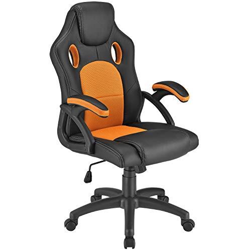 ArtLife Racing Schreibtischstuhl Montreal orange   Armlehnen gepolstert & ergonomische Rückenlehne   Bürostuhl Drehstuhl Gaming-Stuhl