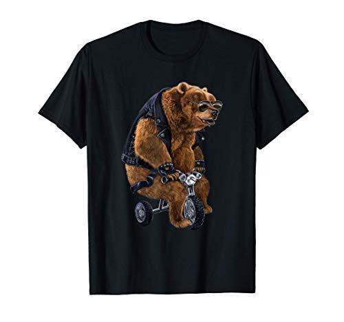 Oso punk montado en un mini triciclo Camiseta