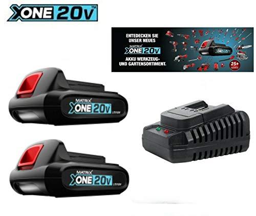 Sparrset 2 X Matrix X-one 20 - Akku 20 V 1,5 Ah + Ladegerät
