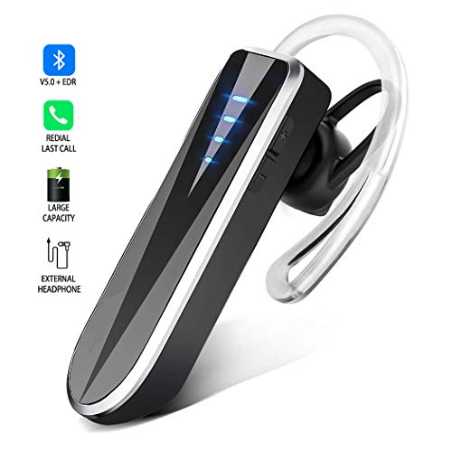 Auriculares Bluetooth 5.0, Auriculares Binaurales Inalámbricos de Manos Libres 24 Horas de Uso, Manos libres Auriculares Para Auto Con Reducción de Ruido.Para iPhone iPad Android