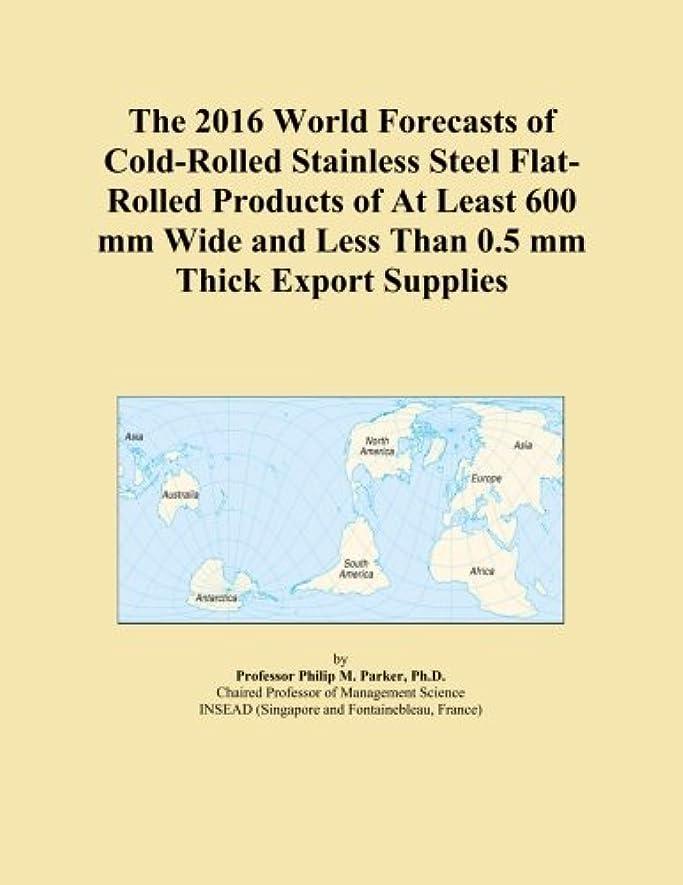 アンタゴニスト上ママThe 2016 World Forecasts of Cold-Rolled Stainless Steel Flat-Rolled Products of At Least 600 mm Wide and Less Than 0.5 mm Thick Export Supplies