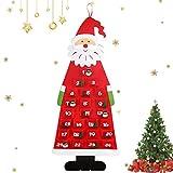 O-Kinee Calendario Dell'Avvento Babbo Natale, Avvento Calendario Avvento da Riempire, XXL Natale...