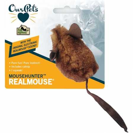 Our Pets Play-N-Squeak Mouse Hunter Squeaking Interactive Cat Toy