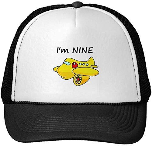 NR Funny I'm Nine, Yellow Plane Trucker Hat