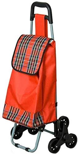 SSeir Carrito de Compras Plegable Toda la Escalera de Terreno S Escalada Carrito con Bolsa de Lona Impermeable extraíble para la lavandería Compras y Eventos Deportivos