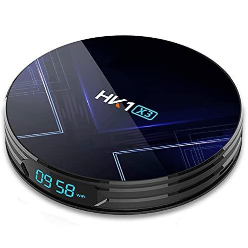 LeftSuper X3 Smart HD 8K WiFi + Reproductor de Red inalámbrico 4 + 32G Caja de Reproductor Multimedia de Memoria Caja de TV Inteligente fácil de Instalar para Hk1