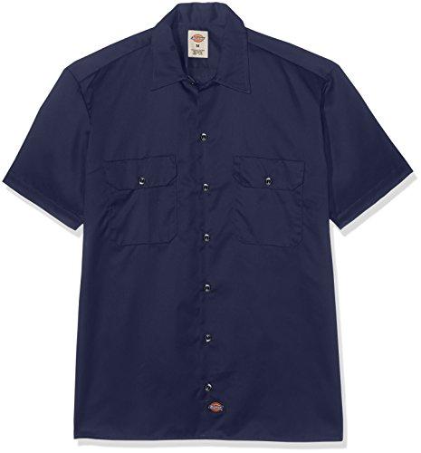 Dickies Men's Sportswear Dickies Herren Arbeitshemd Big and Tall Short Sleeve Blau XXXL