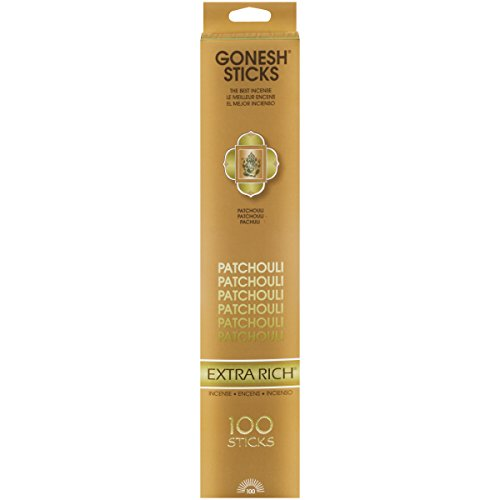 Gonesh Extra Rich Collection Patchouli - 100 Stick Pack-Incense