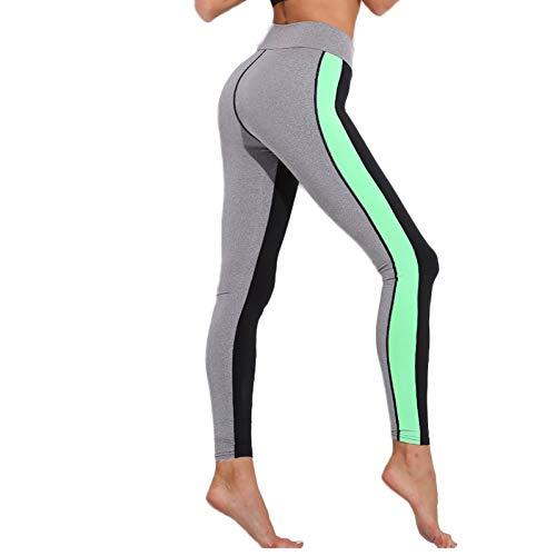 CXKNP yogabroek, dames, yoga, full-body aanzicht broek, loopbroek, sportkleding, dames, fitness, leggings met gevoerde riempjes