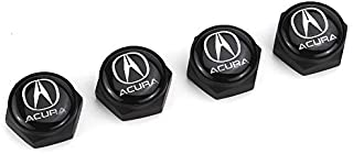 HYFML 4 pcs Separate Zinc Alloy Decoration License Plate Frame Screw Bolt Apply Acura(Black)