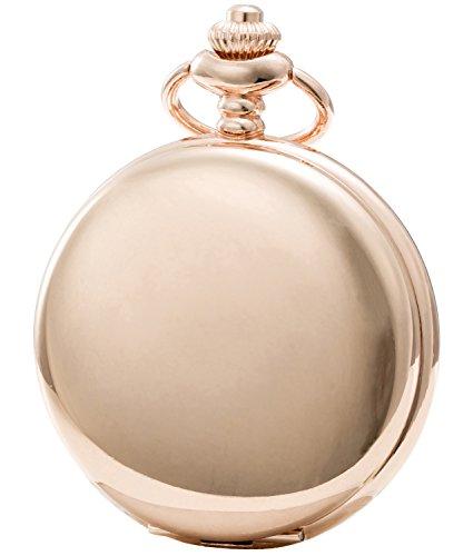 Sewor Modische Quarz-Taschenuhr mit doppelter Kette aus Metall und Leder, Glatte Oberfläche, Muschel-Zifferblatt, Japanisches Quarzuhrwerk … (Roségold)