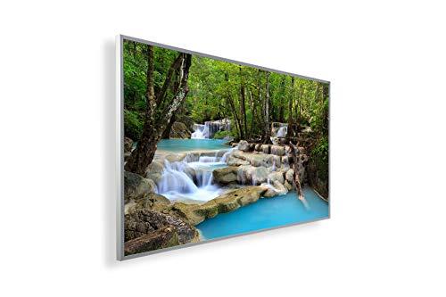 Könighaus Fern Infrarotheizung – Bildheizung in HD Qualität mit TÜV/GS - 200+ Bilder - 300 Watt (12. Wasserfall)