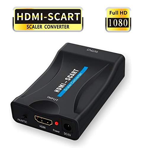 HDMI auf SCART Adapter,GANA HDMI zu Scart Konverter 1080P HDMI to Scart Adapter 60Hz HD für PS3 Sky DVD Blu-Ray