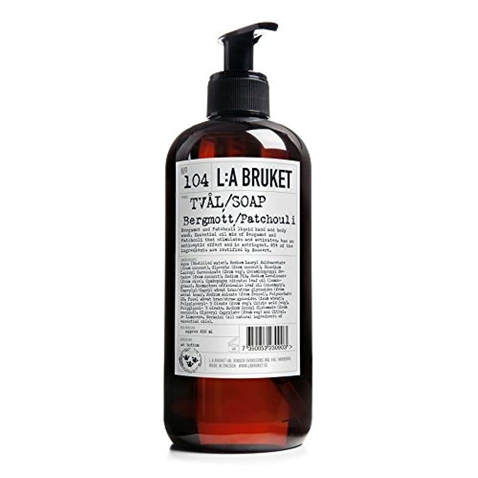 名前債権者味わうL:A Bruket Bruket Bergamot and Patchouli Liquid Soap 450ml - :のベルガモット及びパチョリ液体石鹸450ミリリットル [並行輸入品]