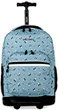 J WORLD Sunrise Rolling Backpack, Panda, One size