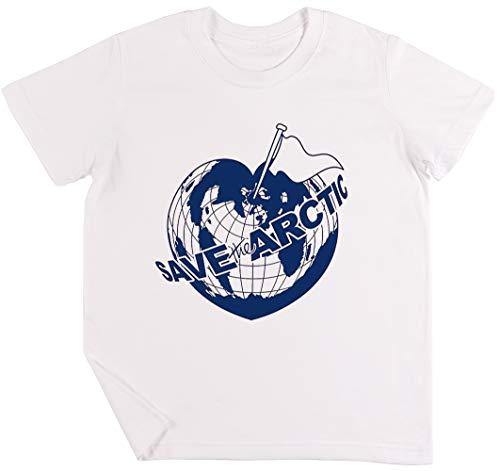 Save The Arctic - Greenpeace Kinder Jungen Mädchen Unisex T-Shirt Weiß