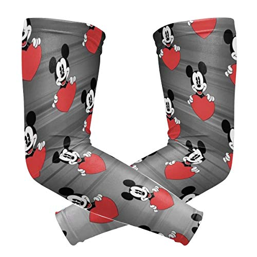 Mickey Mouse Love Arm Sleeve - UV Protection Cooling Compression Sun Sleeves for Men & Women for Running, Cycling,Baseball, Basketball, Golf
