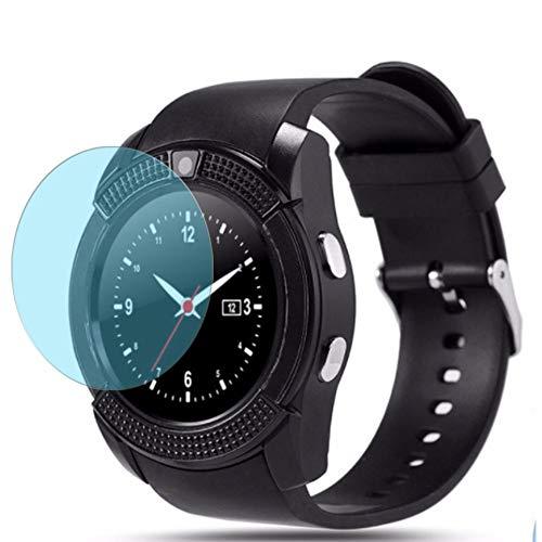 Vaxson 3-Pack Anti Luce Blu TPU Pellicola Protettiva, compatibile con Mahipey/Padcod/KOMTOP-QQW/ASSOIAR/Topffy/Robesty V8 K200 smartwatch, Screen Protector Film [ Non Vetro Temperato ]