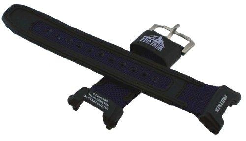 Casio PRG-240B Reemplazo Reloj Banda–Azul Tela y Cuero