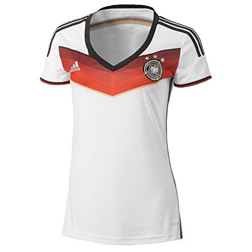 adidas Damen Trainingsshirt DFB Trikot Home WM Nationalmannschaften, weiß/schwarz, XXS-28/30