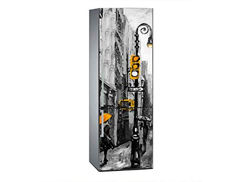 Oedim - Adesivo Decorativo per Frigorifero York in Carbonio, 185 x 70 cm