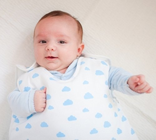 Gloop Baby Gigoteuse en Coton Bio Motif Nuages Bleu