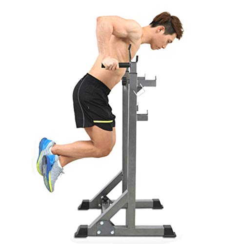 MINIKID Dumbbell Squat Racks, Home G-ym Multifunction Adjustable Squat Rack Stands Weight Lifting Bench Press Squat Rack Pull Up Bar Stands for Indoor Fitness Lifting Frame【US Fast Shipment】 (Black)