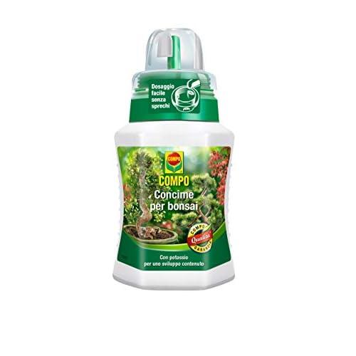Compo, 250, Concime specifico per Tutti i Tipi di Bonsai, da Interno e da Esterno, Fertilizzante arricchito con potassio, 250 ml, 6.3x7x15.5 cm