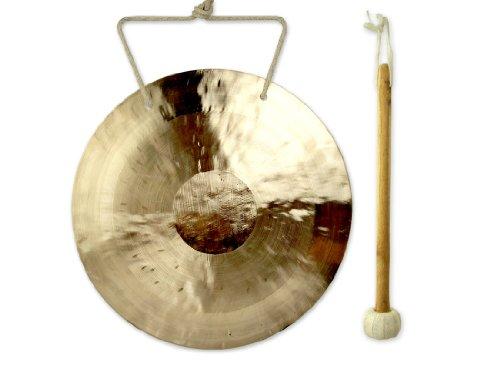 Feng Gong/Wind Gong 30 cm, toller Klang, inklusiv Holz-/ Baumwollklöppel