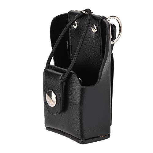 Bewinner Leather Radio Bag lederen tas voor Motorola GP328plus / GP338plug / GP344 / GP388 walkie-talkie radio met Lanyar radio case back clip PU lederen walkie-talkie draagtas