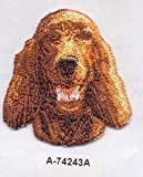 VirVenture Irish Setter Dog Breed Embroidery Patch Great for Hats, Backpacks, and Jackets.