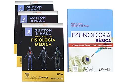 Abbas Imunologia Básica + Guyton Tratado de Fisiologia Médica 12ª edição - 3 volumes - Elsevier