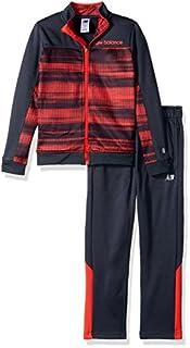 New Balance Boys' Toddler Athletic Jacket and Pant Set, Stripe/Thunder/red, 2T (B073Q48ZDX) | Amazon price tracker / tracking, Amazon price history charts, Amazon price watches, Amazon price drop alerts