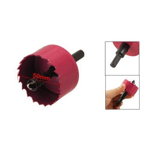 Sonline Rot 50mm Durchmesser Bi Metall Lochsaege Holz-Legierung Eisen Cutter