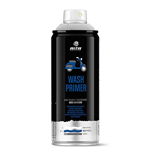 Montana Colors MTN Pro Wash Primer-Imprimación fosfatante, Spray 400ml, Gris