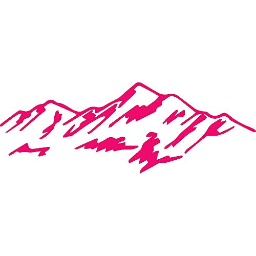 NBFU DECALS Mountain 02 (Pink) (Set of 2) Premium Waterproof Vinyl Decal Stickers for Laptop Phone Accessory Helmet Car Window Bumper Mug Tuber Cup Door Wall Decoration