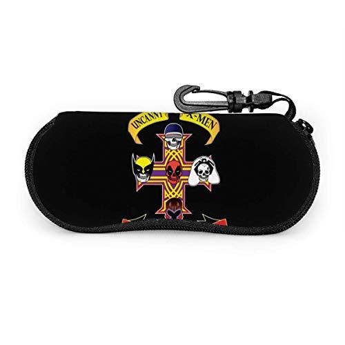 Gun-S UND RO-SES Sonnenbrille Soft Case Ultraleichtes Neopren-Reißverschluss-Brillenetui mit Gürtelclip