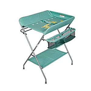 Kinbor Baby Changing Table, Folding Diaper Station Nursery Organizer for Infant