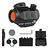 LEB Optics Micro Red Dot Reflex Sight -3 MOA Red Dot Magnifier Sight - Auto Shutoff - Standard Picatinny Rail Ready to Equip - Riser for Co-Witness Reflex Sight - Red Dot Riser