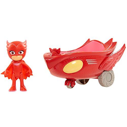 Simba  109402086 - PJ Masks Eulette mit Eulengleiter / mit Superhelden Action Figur / Fahrzeug 17cm groß / Figur 8cm groß, für Kinder ab 3 Jahren