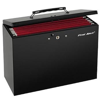 First Alert Black 3050F Steel File Box