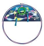 alldoro 63023 2er Set, 1 Hoop Fun Reifen Ø 72 cm blau/pink & 1 Jump Rope grün ca. 2,4 Meter, Hoopreifen & Springseil mit LEDs und Licht, Sportspielzeug für Kinder ab 4 Jahren & Erwachsene