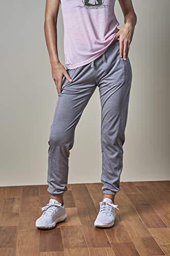 Super.Natural Pantalon de Jogging pour Femme avec Laine mérinos W Active L Mélange de Gris argenté.