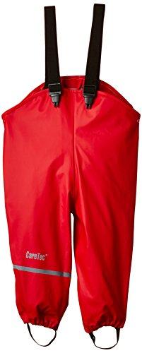 CareTec Pantaloni Impermeabili Unisex Unisex bambino/Bambina, Rot (Red 402), 80