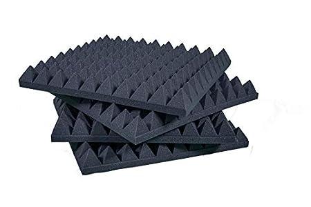 Paneles Piramidales Absorción De Sonido 50x50x6cm D25 Paquete de 20