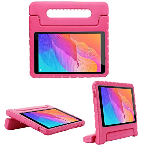 i-original Compatible with Huawei MatePad T8 8 Inch Tablet Case,Shock Proof EVA Case for Kids Bumper Cover Handle Stand,Convertible Handle Lightweight Kids Protective Cover (rose)