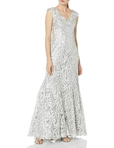 Tadashi Shoji Women's Gown, Silver, 2