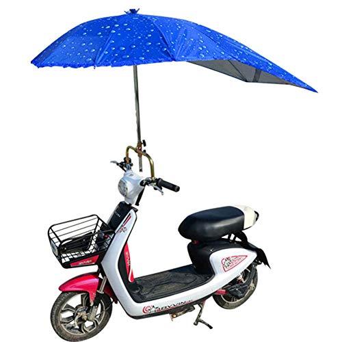XIONGG Elektro-Motorrad Schirmdach, wasserdichte Universalwindschutzscheiben-Roller Regenschirm-Regen-Abdeckung, Blau