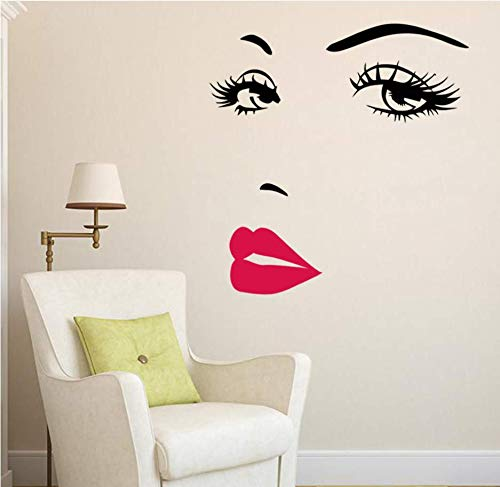 Delleu Mujer Hepburn Ojo Grande Labio pestañas decoración