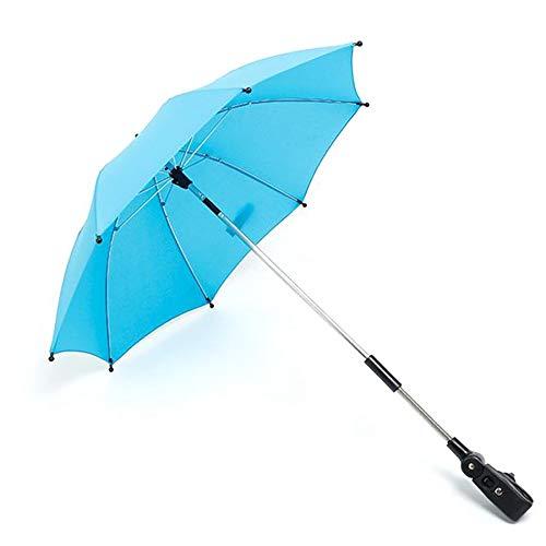 Moligh doll Reverse Umbrella Straight Rod Trolley Wetterfester Winddichter Regenschirm für Kinder mit Upside Stroller Umbrella
